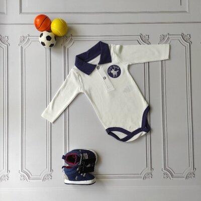 Хлопковый боди-поло Polo