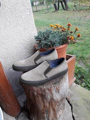 Замшевые туфли 26см