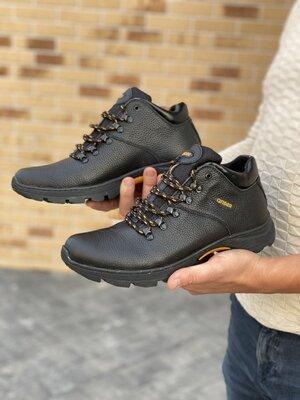 Зимние мужские ботинки Anser 130, черные натур.кожа