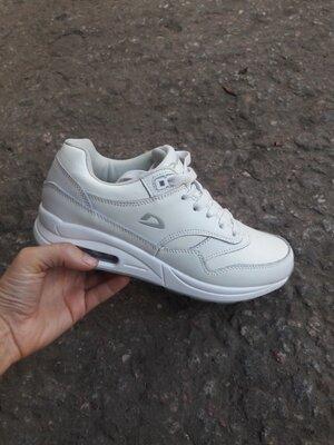 Кожаные кроссовки demax 36-41р белые