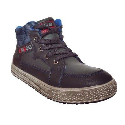 Теплые ботинки мальчикам, р. 33, 34, 35, 36, 37. теплые демисезонные синие кеды на осень.