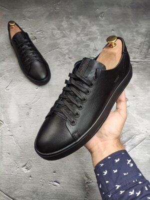 Мужские кожаные брендовые мужские кеды кроссовки туфли мокасины осенние весенние демисезонные