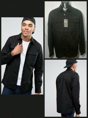 Рубашка мужская Pull&Bear р-р S, M, черная