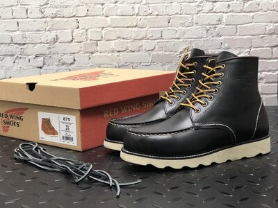 Красивые мужские ботинки Red Wing, Топ качество, черные, р. 41-45, 001-12302