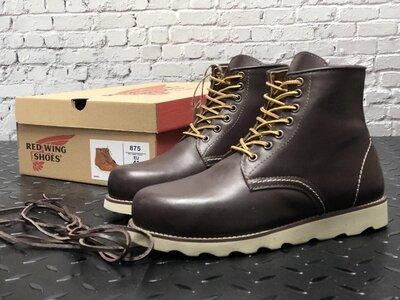 Модные мужские ботинки Red Wing, Топ качество, коричневые, р. 41-45, 001-12305