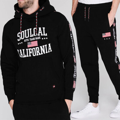 Спортивный костюм худи штаны SoulCal USA Black Оригинал чёрный