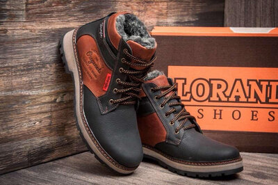 Мужские зимние кожаные ботинки Wrangler