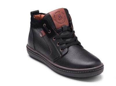 Мужские зимние кожаные ботинки Flotar