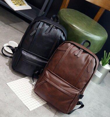 Мужской рюкзак кожзам черный,коричневый