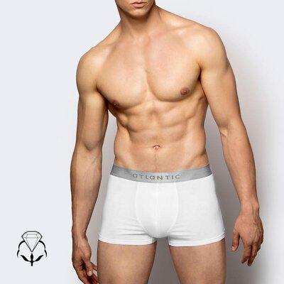 Белые мужские шорты на широкой резинке atlantic bmh 012