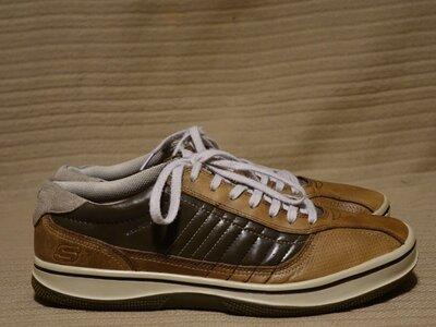 Комбинированные фирменные коричневые кроссовки Skechers сша. 46 р.
