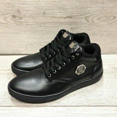 Ботинки Philipp Plein кожа черные