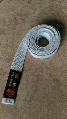 Белый пояс для кимоно Master