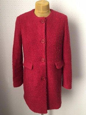 Полушерстяное пальто красивого цвета, ткань букле, made in italy, размер ит 44, укр 46