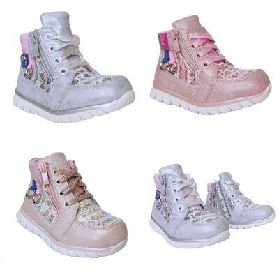 Ботинки девочкам, р. 23, 24, 25, 26, 27, 28. Демисезонные утепленные ботиночки.
