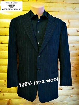 Универсальный шерстяной пиджак в полоску всемироно известной итальянской компании Armani, пр-во Итал