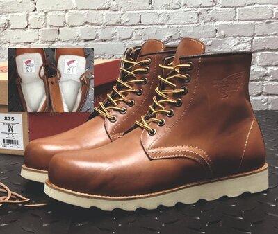Зимние мужские ботинки Red Wing. Натуральная кожа, иск.мех. Light Brown