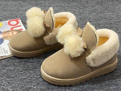 Очень Красивые Зимние Детские Угги Сапоги Ботинки BEIGE