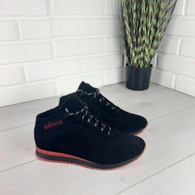 Мужские ботинки зимние из натуральной замши, внутри натуральная шерсть 1116085866