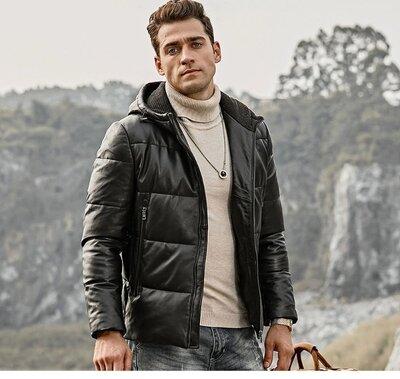 Стильная мужская куртка из эко кожи