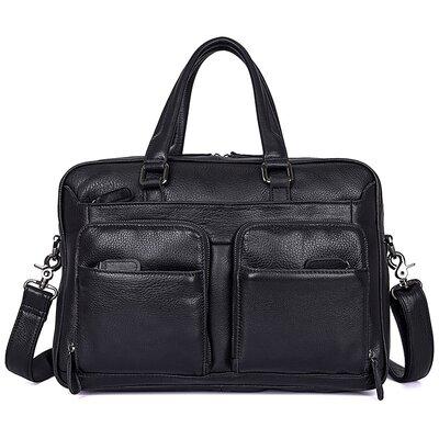Мужская кожаная сумка для ноутбука Бесплатная доставка 7373A портфель натуральная кожа