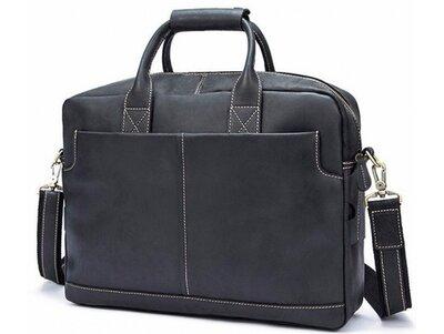 Мужская кожаная сумка для ноутбука Бесплатная доставка t1019RA портфель натуральная кожа