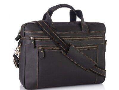 Мужская кожаная сумка для ноутбука Бесплатная доставка 7319RA портфель натуральная кожа