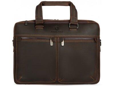 Мужская кожаная сумка для ноутбука Бесплатная доставка RB001R портфель натуральная кожа