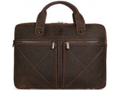 Мужская кожаная сумка для ноутбука Бесплатная доставка RB012R портфель натуральная кожа