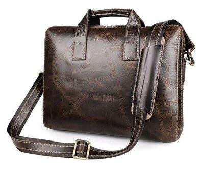 Мужская кожаная сумка для ноутбука Бесплатная доставка JD7167C-1 портфель натуральная кожа