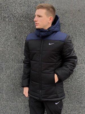 Зимняя Куртка Европейка сине-черный 1592560834