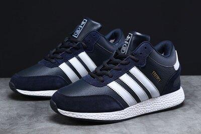 Зимние мужские кроссовки 31281 Adidas Iniki, темно-синие
