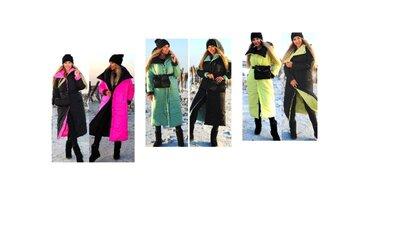 Пальто пуховик Одеяло- модные цвета