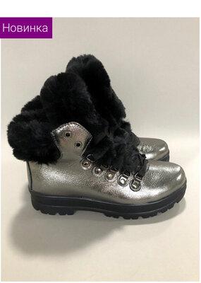 Шикарные зимние ботинки полностью натуральные