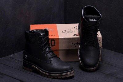 Мужские кожаные ботинки 125 черн.