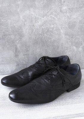 Стильные кожаные мужские туфли броги, оксфорды Next . Размер uk9/ eur43.