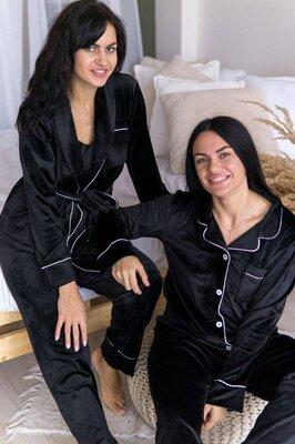 Элитная пижама высокое качество велюра плюш на хлопковой основе