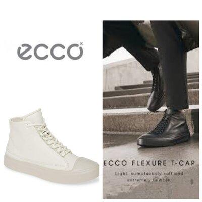 Кожаные ботинки кеды экко ecco flexure t-cap оригинал р.42,44 Новые Индонезия