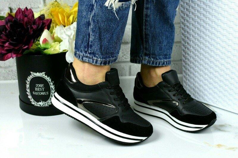 Черные стильные кроссовки: 350 грн - кроссовки в Полтаве, объявление №27236571 Клубок (ранее Клумба)
