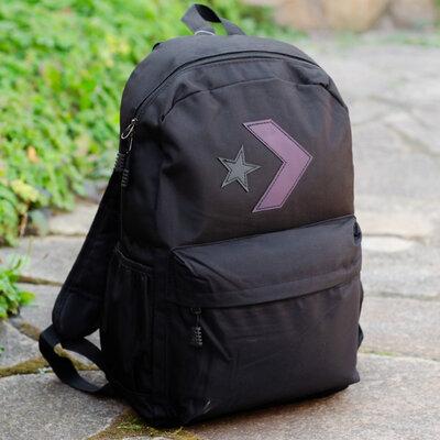Рюкзак мужской городской спортивный школьный женский унисекс черный для подростка