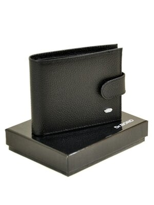 Мужской кожаный кошелек черный