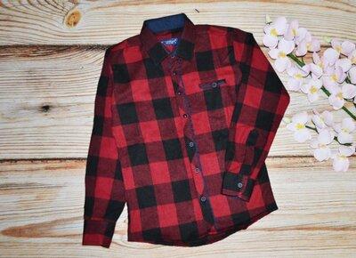 Теплая рубашка для мальчика на байке, качество люкс