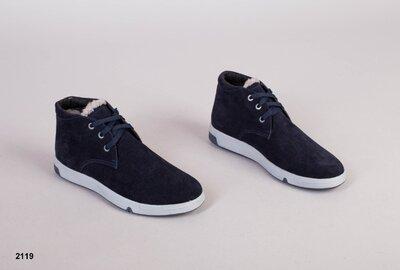 Код 2119 з Мужские зимние ботинки Размеры 40-45 Сезон зима Материал натуральная замша Внутри по