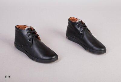 Код 2118 з Мужские зимние ботинки Размеры 40-45 Сезон зима Материал натуральная кожа Внутри пол