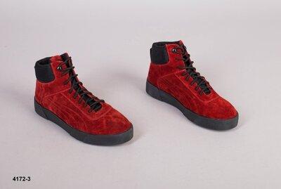 Код 4172-3 з Мужские зимние ботинки Размеры 40-45 Сезон зима Материал натуральная замша Внутри