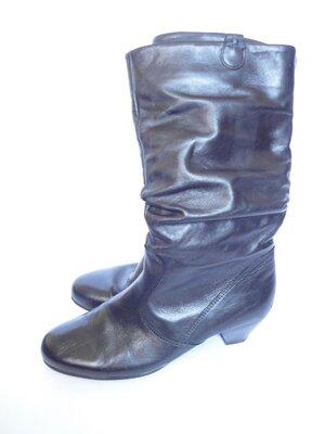 Сапоги из натуральной кожи р.38 Акция 3 Пары На Ваш Выбор Обуви За 500ГРН