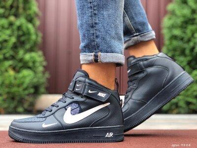 Nike Air Force кроссовки мужские термо темно синие 9884