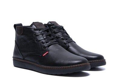 Стильные мужские зимние кожаные ботинки зимние кеды