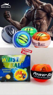 Кистьовий ручний тренажер Powerball NEW для зап'ястя світиться в темряві Blue Кистевой ручной