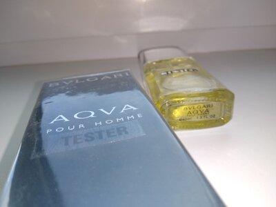 Мужская туалетная вода bvlgari aqva pour homme тестер 40 мл